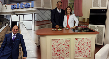 dr. vikram chauhan on the set of sitel tv macedonia
